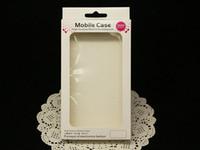156 * 90 * 15mm Paquete para iPhone 5 5S 6 Cubierta de caja Papel PVC Ventana Caja de embalaje al por menor transparente Paquete Paquete Embalaje Cubiertas de cuero para el teléfono