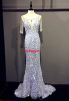 2016 neue Ankunft Mode Kostenloser Versand Prom Kleider Sparkly Bling Luxuriöse Bateau Blau Stein Pailletten Abendgesellschaft Kleid (ED141)