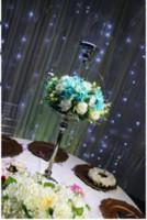 Przynajmniej szklany świecznik na stół ślubny Dekoracja Centralna 111