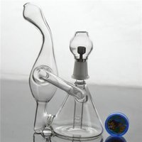 "Small Glass Bongs 5. 5"" inches Unique Shape Recycler Oil..."