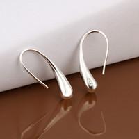 Gocce d'acqua placcata in argento sterling nuovissimo Gancio per orecchio DFMSE004, orecchini a lampadario dinkelier in argento 925 da donna 10 paia molto