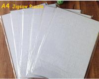 Poco costoso !!! A4 sublimazione Blank Puzzle 120pcs DIY Craft Heat Press Transfer Artigianato Jigsaw Puzzle bianco in magazzino