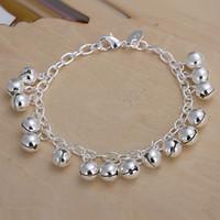 Vente chaude Meilleur cadeau 925 Silver Jingle Bracelets DFMCH056, NOUVEAU Mode 925 Sterling Sterling Silver Chain Link Bracelets