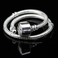 10PC ONLY 925 Silver 3MM Snake Chain Fits European DIY Pulse...