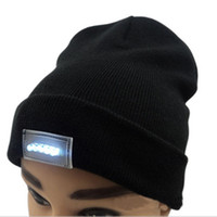 Led Winter Beanie fashion led glowing knitted caps Glowing H...