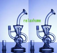 2019 더블 리사이클 러 유리 봉 과학 Phonix 봉스 클라인 증기 재활용 오일 장비 유리 봉수 물 파이프 펄스 바이오 DAB 유리