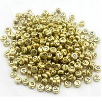 جعلت 7MM الفضة الذهب الاكريليك الملونة الأبجدية جولة الخرز رسالة جيدة للمجوهرات حرية الملاحة - 1000 جهاز كمبيوتر شخصى