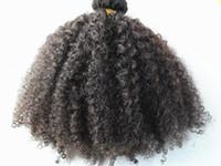 بيرو الشعر البشري 9 قطع مع 18 مقاطع كليب في منتجات البني الداكن اللون الأسود الطبيعي الأفرو غريب حليقة