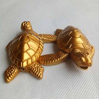 Gold Turtles Tortoise Butane Metal Cigarette Smoking lighter...