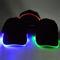 Mode LED Leuchten Baseball-Mütze Glow In Dark Party Cap 10 teile / los Kostenloser Versand