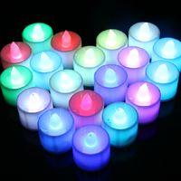 Durak satış aydınlık mum LED gece lambası romantik doğum günü düğün gece lambası üreticileri, suçlayarak