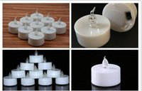 Flickering Flicker Flameless LED Tealight Tea Candles Light ...