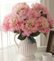 """Europeisk silke hortensia (5 huvuden / stycken) 50cm / 19.69 """"Längd 15.00 Konstgjorda blommor Hortenseor för DIY Bridal Bouquet Home Xmas Decor"""