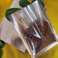 Spedizione gratuita 100 pz 14 * 20 cm Open top di plastica trasparente + sacchetto di alluminio Sacchetto di calore di tenuta alluminizzata foglio composto vuoto sacchetto di tè