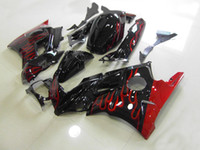 Red flames black trim kit for HONDA CBR 600 CBR600F2 CBR 600...