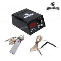 Dövme LCD Dijital Güç Kaynağı Ayak Anahtarı Klip Kordon P025-1 + We002 + WY002