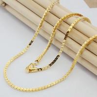 Snel gratis verzending Fijne bruiloft sieraden heren goud gevulde ketting high-end mode nooit vervagen goud gevulde ketting