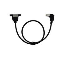 (USB 2.0 Druckleitung mit Ohr kann feste Mutter USB AF mit Ohr / BM Winkel 90 ° 0,5 m USB-Kabel)