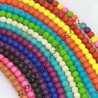 Bunte Türkis Perlen 14 Farbe Wahl Türkis Perlen Türkis Perlen für 10mm DIY Armband Halskette 200pcs