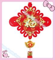 فو جديد سنة pendantraditional لطيف العقدة الصينية جميلة محظوظا سيارة شنقا الملحقات diy النسيج الحرفية قلادة زينة