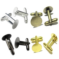 Beadsnice mens jewelry cufflink backs with round pad brass cufflink components french cufflinks blank mix style ID 32266