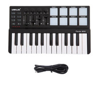 Высокое качество Worlde мини Портативный мини клавиатура и барабан Pad 25-ключ USB MIDI контроллер Бесплатная доставка