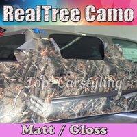 ¡Caliente! Realtree Camo Vinyl wrap camuflaje de hoja de árbol real Mossy Oak Car wrap Film para el diseño de la piel del vehículo que cubre la lámina 1.52x30m / Roll