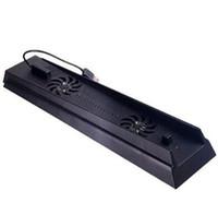 Dikey Şarj Çift Kontrolörü Şarj Bağlantı Noktaları USB HUB Perakende Box ile PS4 Pro İnce PlayStation 4 Konsolu için İstasyon Cooler Standı