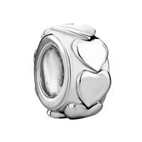 금속 슬라이더 스페이서 대형 구멍 도매 저렴한 합금 사랑 유럽 구슬 맞는 판도라 Chamilia 바이 기간 매력 팔찌