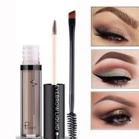 Professional Eye Brow Tattoo Pudaier Cosmetics Long Lasting Pigments Black Brown Waterproof Eyebrow Liquid Makeup with Brush