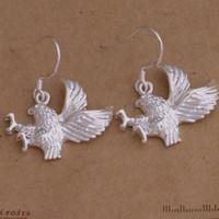 Moda (fabricante de la joyería) 40 piezas mucho pendientes de águila 925 precio de fábrica de la joyería de plata Pendientes de moda Shine AE012