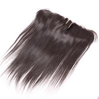 13x2 encaje Pasquías frontales 8-20inch Extensiones de cabello brasileño Oído a oreja Encaje Frontal de 3 vías Parte Cierre de encaje Seda RECTO 100% HUMANO HUI