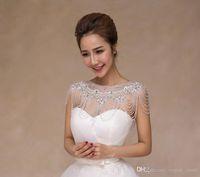 Bling bling haute qualité mariée chaîne de bandoulière cordon de mariée cristaux cristaux wraps mariage mariée collier mariage bijoux de mariage strass