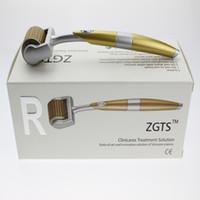 100 pçs / lote 192 agulhas Titanium ZGTS derma roller rolo da pele rolo de beleza Fábrica meso derma selo sistema de rolamento