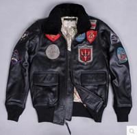 AVIREX US Air Force-Pilotjacke aus echtem Leder, Multi-Standard-G1-Fluganzug, für Herrenbekleidung