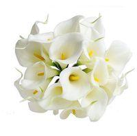 Bouquet da sposa Calla Lily Fiori da sposa SPEDIZIONE GRATUITA PU Real Touch Giallo Mini Calla Lily Bouquets HP006