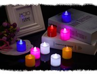 Flicker Tea Candles Luce a LED Tealight matrimonio matrimonio festa di Natale Decorazione all'ingrosso