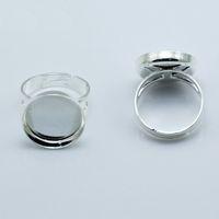 Beadsnice 보석 반지 도매 반지 공백 베젤 설정은 18mm 둥근 카메오 또는 카보 숑 조절 식 손가락 링베이스에 적합 ID 27558
