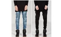الرجال سروال رصاص BIKER JEANS ملابس فوا أنيق صالح سليم جينز شارع العليا للرجال ربيع الخريف بنطلون جينز مطوي مصمم Clothin