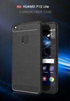 Cas en fibre de carbone pour Huawei P10 Lite Nova Jouer 6X Maté 9 Lite GR5 2017 Honor 6X 9 Profitez 5 maté Y6 Pro 6 Head 5 Nova Plus G9 Magic Trappe