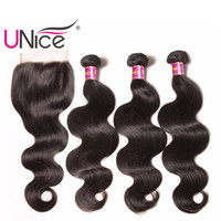 UNice Hair Malaysian Virgin Body Wave Bundles With Closure F...