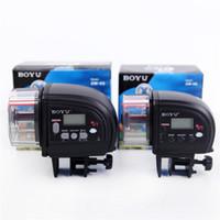 Small / Large Boyu LCD Display Digital elétrico automático Peixe Feeder Dispenser Temporizador Aquário Aquário alimentação alimentador automático