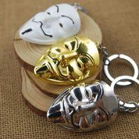 Série de films de vente chaude chaîne V pour Vendetta Hacker masque Keyring Keychain pour clés meilleurs cadeaux de promotion W976