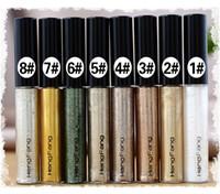 Dropshipping HENGFANG 8 Renk Renkli Eyelinerl Parlak Jel Astar Temizle Su Geçirmez Sıvı Eyeliner Kozmetik Makyaj Göz Gömlekleri Bir Adım Eyeli