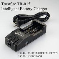 50 stks Originele Trust Fire TR-015 Digitale Dual Charger Trustfire Batterij Lading AU US EU UK Plug voor 18350 18650 PK TR-J18 TR-001 DHL