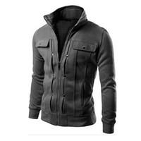 남자 재킷 후드 스웨트 트랙스 솔리드 패션 망 후드 티 지퍼 디자인 트랙웨어 남자 운동복 겨울 긴 소매