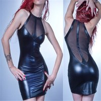 New Hollow Sexy Lingerie Latex Bodysuit Catsuit Faux Leather...
