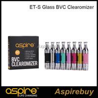 Aspire ETS BVC serbatoio 3ml ETS BVC atomizzatore di vetro Clearomizer con Aspire BVC Coil capo Pyrex tubo di vetro 5pcs / pack 100% originale
