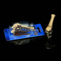 2016 new 510 drip tip bend skeleton skull drip tips metal drip trip for ecig vape rda rba VS glass acrylic skull mouthpieces