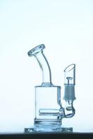 100% Image réelle Mini Bongs 15cm Bongs transparents Tuyaux d'eau Tuyaux d'eau Brochette de verre Recyclage Huile Resilierie Huile Concentrée Concentré Concentré Plateaux Naviguies Bangs de verre